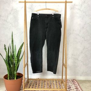 Wrangler Black High Rise Straight Leg Jeans